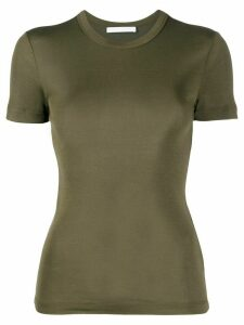 Helmut Lang ribbed silk T-shirt - Green