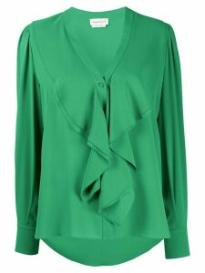 Alexander McQueen ruffled silk blouse - Green