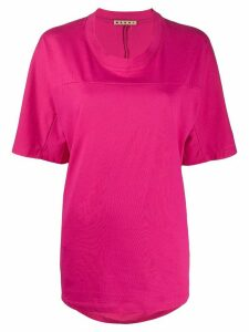 Marni oversized pleated back T-shirt - PINK