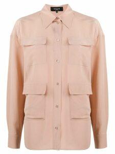 Rochas four-pocket silk shirt - PINK