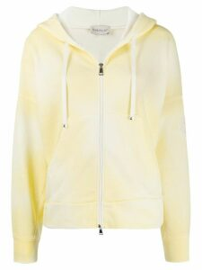 Moncler tie-dye zip through hoodie - Yellow