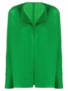 Issey Miyake micro-pleated jacket - Green