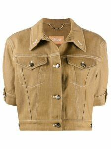 Chloé cropped stitched jacket - NEUTRALS