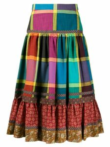 Gucci multi-pattern pleated skirt - Red