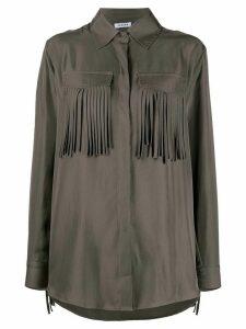 P.A.R.O.S.H. fringed shirt - Grey