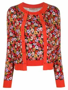 Twin-Set layered floral-print cardigan