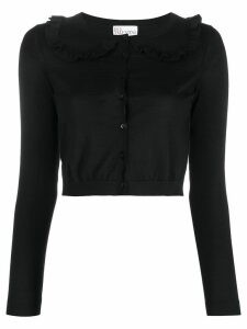 RedValentino cropped frill collar cardigan - Black