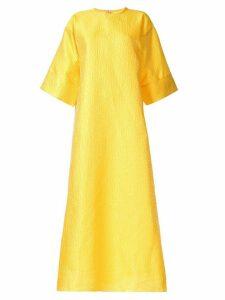 Bambah Rosa brocade kaftan dress - Yellow