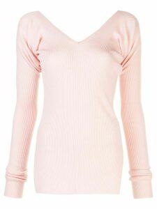 Marni ribbed v-neck jumper - PINK