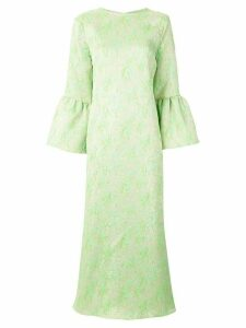 Bambah Camelia long kaftan dress - Green