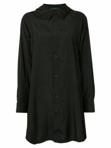 Yohji Yamamoto oversized long-sleeve shirt - Black