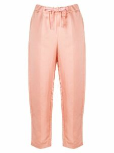 Semicouture cropped tapered trousers - ORANGE