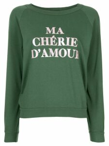 Wildfox slogan print sweatshirt - Green