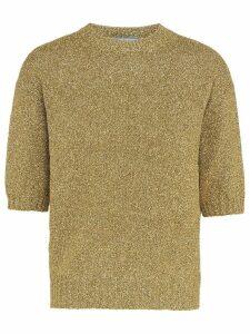 Prada metallic weave knitted top - GOLD