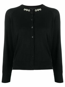 Simone Rocha pearl and stud-embellished cardigan - Black