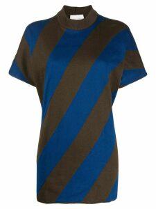 Stephan Schneider diagonal striped print T-shirt - Brown
