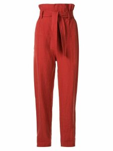 Bassike linen tapered trousers