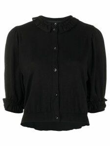 Simone Rocha ruffle-trimmed cardigan - Black