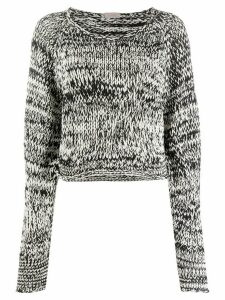 MRZ textured knit jumper - Black