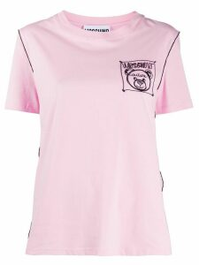 Moschino embroidered logo T-shirt - PINK