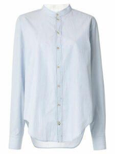 Bassike fine stripe utility shirt - Blue