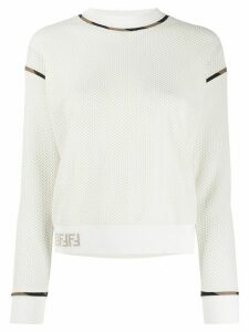 Fendi honeycomb detail sweatshirt - NEUTRALS