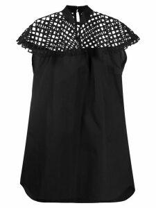 Sacai mesh panel dress - Black