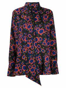 Rokh floral-print tie-insert shirt - Black
