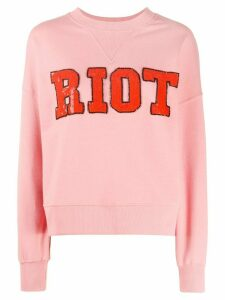 Essentiel Antwerp Riot sequin sweater - PINK
