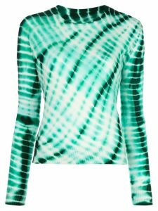 The Elder Statesman tie-dye lightweight jumper - Green