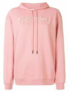McQ Alexander McQueen slogan embroidered hoodie - PINK