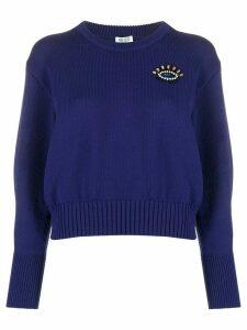 Kenzo motif embellishment knitted jumper - Blue