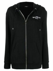 Balmain logo zipped hoodie - Black