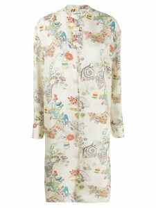 LANVIN long fairy-print shirt - NEUTRALS