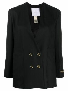 Patou NO COLLAR DOUBLE BREASTED JACKET - Black