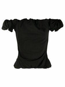 Maison Margiela off shoulder ruched top - Black