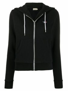 Maison Kitsuné fox embroidery zip-up hoodie - Black
