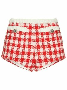 Miu Miu gingham check short-shorts - Red
