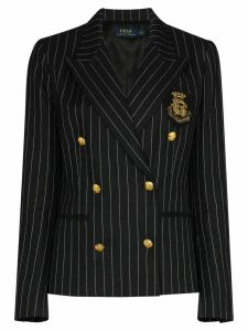 Polo Ralph Lauren double-breasted pinstriped blazer - Black