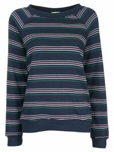 Wildfox striped long-sleeve sweatshirt - Blue