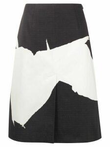 Maison Margiela abstract-print A-line skirt - NEUTRALS