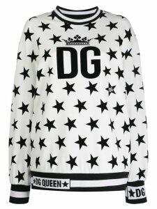 Dolce & Gabbana GG Queen star print sweatshirt - White