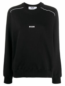 MSGM logo print lined detail sweatshirt - Black