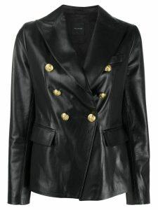Tagliatore peaked-lapel double breasted blazer - Black