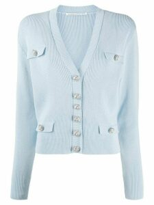 Alessandra Rich boxy fit cardigan - Blue