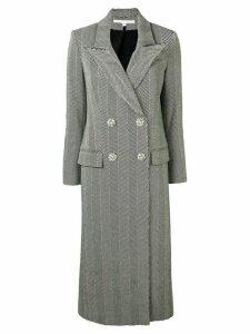 Veronica Beard double breasted herringbone coat - Black