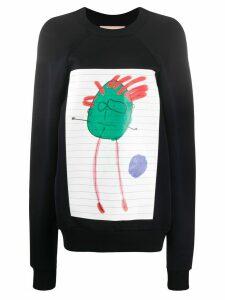Plan C Kid's Doodle sweatshirt - Blue