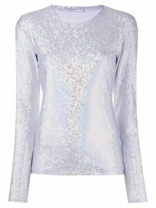 Saks Potts Saya shimmering top - SILVER