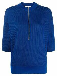 Stephan Schneider knitted 3/4 sleeve top - Blue