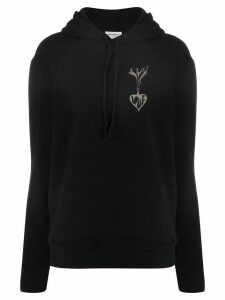 Saint Laurent graphic print hoodie - Black